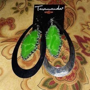 Taramanda Green Slate Earrings